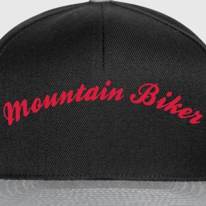 mountain biker cool curved logo - Snapback Cap