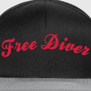 free diver cool curved logo - Snapback Cap