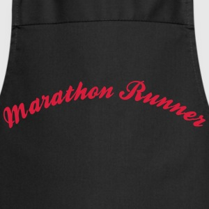 marathon runner cool curved logo - Cooking Apron