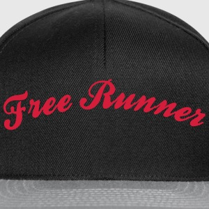 free runner cool curved logo - Snapback Cap