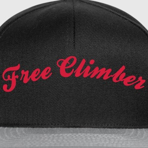 free climber cool curved logo - Snapback Cap