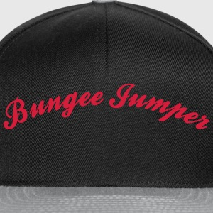 bungee jumper cool curved logo - Snapback Cap