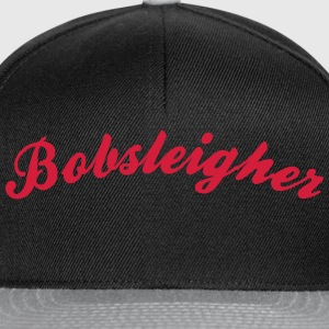 bobsleigher cool curved logo - Snapback Cap