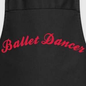 ballet dancer cool curved logo - Cooking Apron