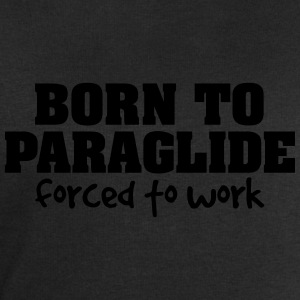 born to paraglide forced to work - Men's Sweatshirt by Stanley & Stella