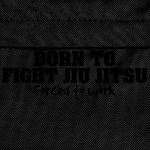 born to fight jiu jitsu forced to work - Kids' Backpack