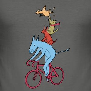 Bicycle Fairy Tales Bag - Männer Slim Fit T-Shirt