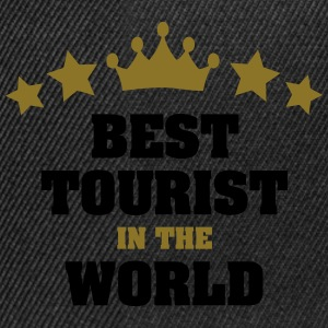 best tourist in the world stars crown - Snapback Cap