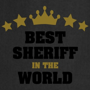 best sheriff in the world stars crown - Cooking Apron