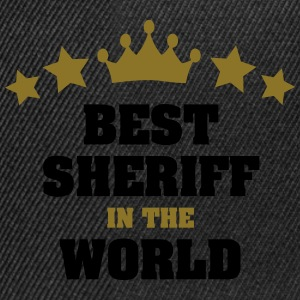best sheriff in the world stars crown - Snapback Cap