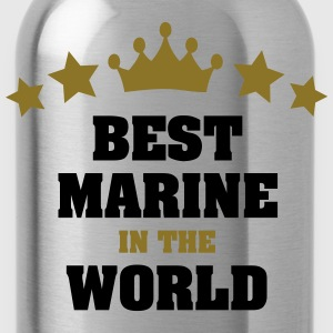 best marine in the world stars crown - Water Bottle