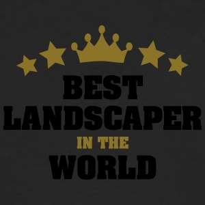 best landscaper in the world stars crown - Men's Premium Longsleeve Shirt