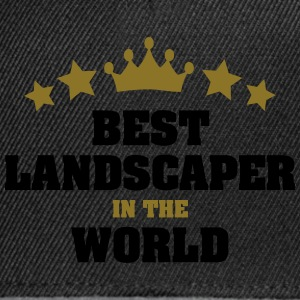 best landscaper in the world stars crown - Snapback Cap