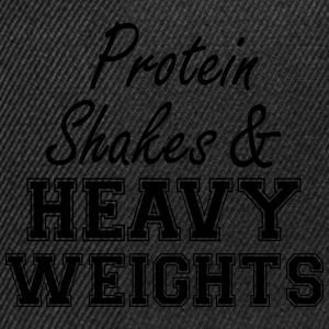Protein Shakes And Heavy  T-Shirts - Snapback Cap