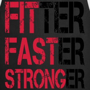 Fitter Faster Stronger - Fitness, Bodybuilding Tank Tops - Delantal de cocina