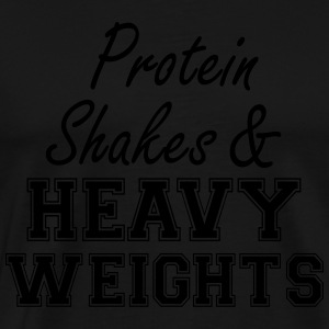Protein Shakes And Heavy Weights Débardeurs - T-shirt Premium Homme
