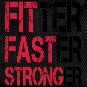 Fitter Faster Stronger - Fitness, Bodybuilding T-Shirts - Kids' Backpack