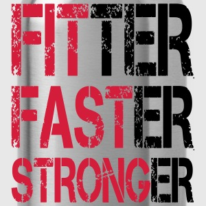 Fitter Faster Stronger - Fitness, Bodybuilding T-Shirts - Water Bottle