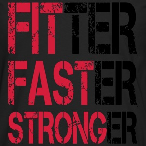 Fitter Faster Stronger - Fitness, Bodybuilding T-Shirts - Men's Premium Longsleeve Shirt