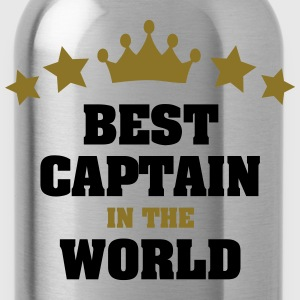 best captain in the world stars crown - Water Bottle