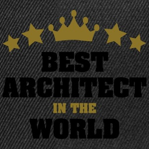 best architect in the world stars crown - Snapback Cap