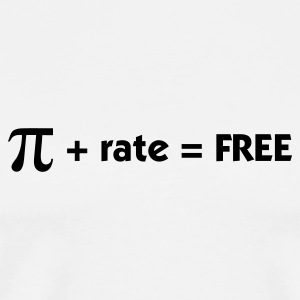 Pi rate = Free Mugs & Drinkware - Men's Premium T-Shirt