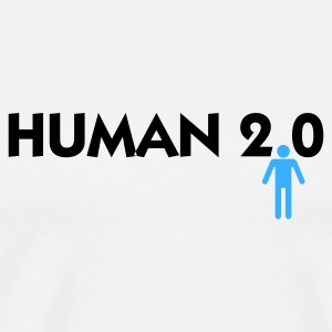 Human 2.0 Mugs & Drinkware - Men's Premium T-Shirt