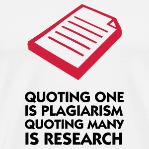 Plagiarism and research Mugs & Drinkware - Men's Premium T-Shirt