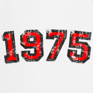 Year 1975 Birthday Design Vintage Red (EU) T-Shirts - Cooking Apron