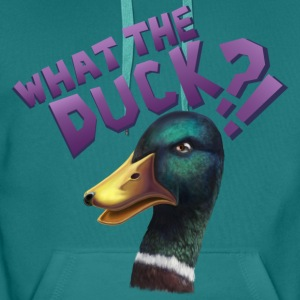 What The Duck?! Magliette - Felpa con cappuccio premium da uomo