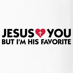 Jesus loves you but I m his favorite Mugs & Drinkware - Men's Premium Longsleeve Shirt