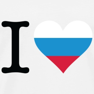 I Love Russia Topper - Premium T-skjorte for menn