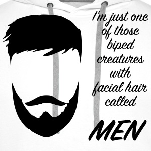 men beard T-shirts - Premiumluvtröja herr
