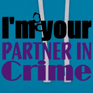 Partner In Crime T-Shirts - Contrast Colour Hoodie