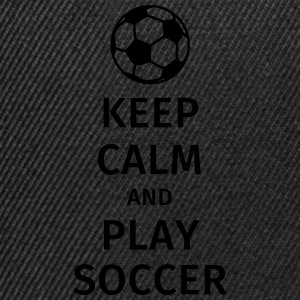 keep calm and play soccer T-skjorter - Snapback-caps
