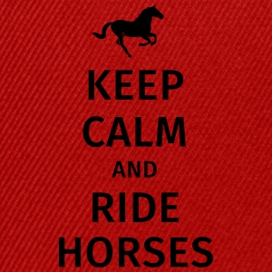 keep calm and ride horses Tassen & Zubehör - Snapback Cap