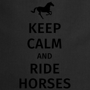 keep calm and ride horses Kubki i dodatki - Fartuch kuchenny