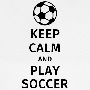 keep calm and play soccer T-shirts - Basebollkeps