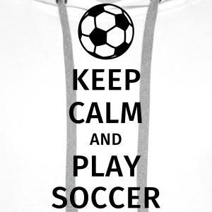 keep calm and play soccer T-shirts - Premiumluvtröja herr