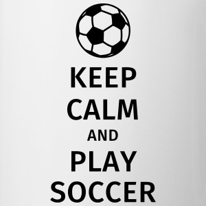 keep calm and play soccer T-shirts - Mugg