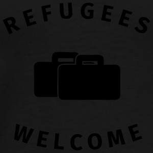 refugees welcome Mugs & Drinkware - Men's Premium T-Shirt