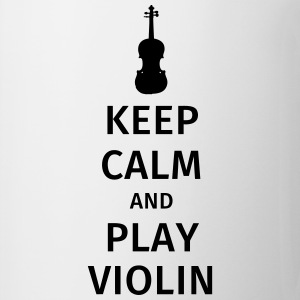 keep calm and play violin Camisetas - Taza