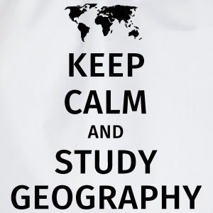 keep calm and study geography T-shirts - Sportstaske