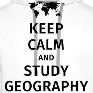 keep calm and study geography T-Shirts - Männer Premium Hoodie