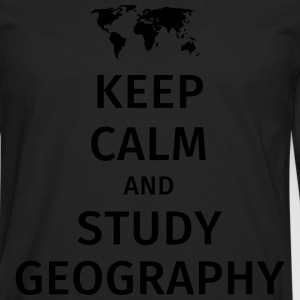 keep calm and study geography T-shirts - Mannen Premium shirt met lange mouwen