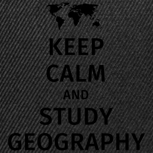 keep calm and study geography Camisetas - Gorra Snapback
