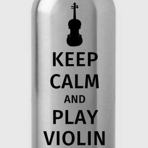keep calm and play violin T-shirts - Drikkeflaske