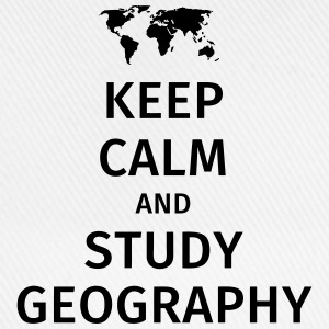 keep calm and study geography Tazas y accesorios - Gorra béisbol