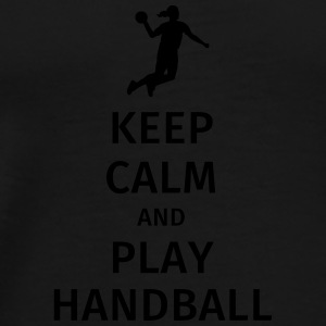 keep calm and play handball Mokken & toebehoor - Mannen Premium T-shirt