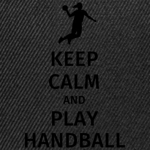 keep calm and play handball Camisetas - Gorra Snapback